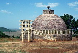 Buddhist stupa in Sanchi, India