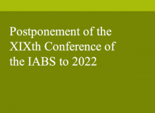 Postponement of the XIXth Conference of the IABS to 2022